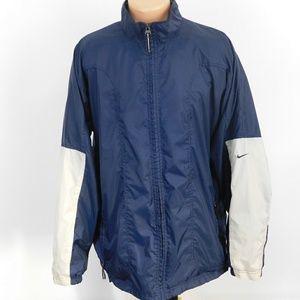 Nike full zip lined light jacket. L
